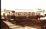 Carte postala ilustrata Vagon de tramvai acoperit, tractiune cu cai, 1929