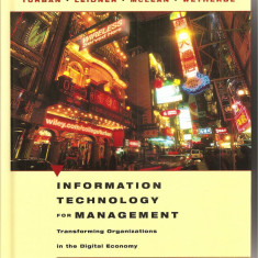 (C1601) INFORMATION TECHNOLOGY FOR MANAGEMENT; tehnologia informatiei pentru management, LEIDNER, MCLEAN, WETHERBE, JOHN WILEY, INC - Carte Management