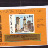 Romania L1019  CSCE-Reuniunea de la Madrid  1980-colita nedantelata