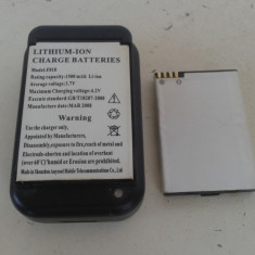 2 baterii + incarcator usb extern- model F 818- 1500 mAh Li-ion - Baterie externa