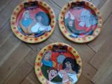Set colectie lot Farfurii platou copii carton subtire lucios Cocosatul de la Notre Dame Huntchback