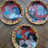 Set colectie lot Farfurii platou copii carton subtire lucios Cocosatul de la Notre Dame Huntchback - Farfurie