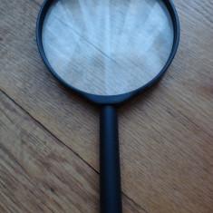 Lupa neagra lentila mare marire citire citit scris focal diametru 10 cm 100 mm