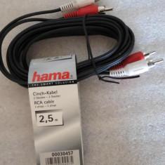 CS158 Hama Cinch cablu 2, 5m cablu RCA vezi foto