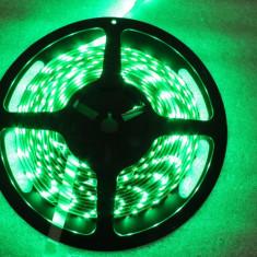 CS154 3528 SMD banda led de 5 metri verde cu mufa si alimentatorul aferent 300 led-uri de interior - Led auto