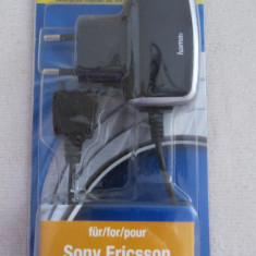 CS143 Incarcator rapid Hama alimentator telefon mobil Sony Ericsson Travel Charge 17873 constructie mica vezi foto si descriere compatibilitati - Incarcator telefon Sony, De priza