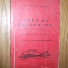 """CURS DE AUTOMOBILE   ** Teoretic si Practic  --  Constantin Mihailescu --  Imprimeriile  """" Standard Graphica ; Marvan ;"""" , 161 p."""