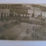 FOTOGRAFIE MILITARA CU DEPUNEREA JURAMANTULUI DIN ANII 20 - Fotografie veche