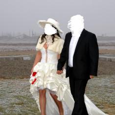 Vand rochie mireasa purtata o singura data - Rochie scurta de mireasa