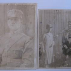 2 FOTOGRAFII CU OFITERI ROMANI DIN 1928 - Fotografie veche