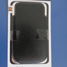 1268plu Toc telefon mobil Hama pt. Apple iPhone 4 husa piele veritabila neagra protectie practica - Husa Telefon Apple, iPhone 4/4S