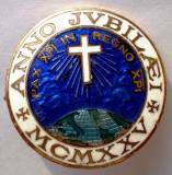 I.001 INSIGNA ITALIA MILANO ANNO JUBILAEI CRUCE MCMXXV 1925 27mm EMAIL