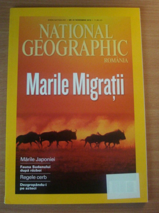 National Geographic Romania #Noiembrie 2010 - Marile migratii, Regele Cerb