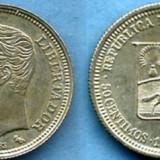 50 Centavos 1960 Venezuela  Argint 835  UNC