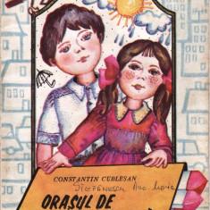 ORASUL DE CRETA COLORATA de CONSTANTIN CUBLESAN (1986) - Carte poezie copii