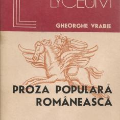 Gheorghe Vrabie - Proza populara romaneasca