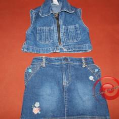 Vesta jeans, de blugi, costum de blugi
