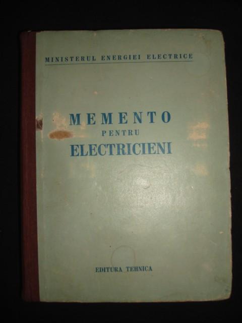 MEMENTO PENTRU ELECTRICIENI { 1951 }
