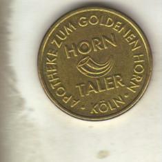 bnk jt jeton horn taler - apotheke zum goldenen horn koln