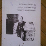 Dictionar explicativ de notiuni fundamentale in filosofie si politologie