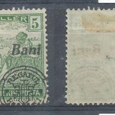 RFL 1919 ROMANIA Emisiunea Oradea eroare 5 Bani seceratori cu sursarj deplasat - Timbre Romania, Nestampilat