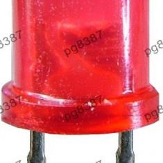 LED 5 mm intermitent, rotund mat, rosu, 20 mA-3500 - Bec / LED
