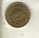 Bnk jt jeton kreuz taler - kreuz- apotheke * dornstadt