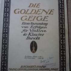 Die goldene Geige Eine Sammlung von Erfolgen fur Violine Klavier Band II muzica partituri - Partitura