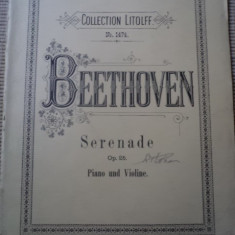 Beethoven op 26 piano und violine Collection Litolff partituri muzica clasica - Partitura
