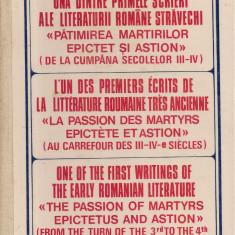"""Nestor Vornicescu - Una dintre primele scrieri ale literaturii romane stravechi """"Patimirile martirilor Epictet si Astion"""" - Vietile sfintilor"""