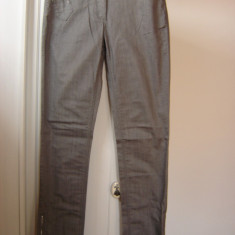 BLUGI DE DAMA pantaloni brand VERO MODA JEANS GRI mas M fermoar glezna - Blugi dama Vero Moda, Marime: M, Drepti, Lungi, Normala