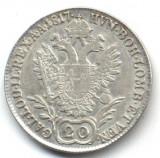 20 KREUZER 1817 A VF+++XF ARGINT AUSTRIA