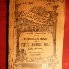 M.Tullius Cicero - PRO MILONE -BPT nr. 967 interbelica
