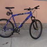 Vand mountain bike, 20 inch, V-brake, Cu amortizor, Aer/ulei, Aliaje de aluminiu