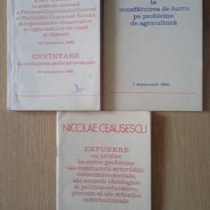 NICOLAE CEAUSESCU - Expunere si cuvantare 1988 (3 numere)