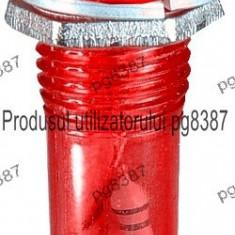 Indicator cu bec, 12V, 8x34mm, rosu - 124790