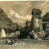 Cetara (Golful Salerno) - Italia - Tipogravura - Meyers Universum 1833-1861 - Pictor strain