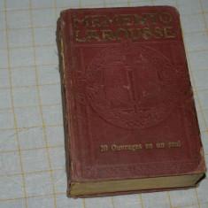 Memento Larousse -Paris - Librairie Larousse - 1938