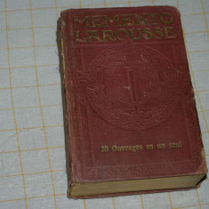 Memento Larousse -Paris - Librairie Larousse - 1938 - Dictionar ilustrat