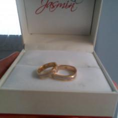 Verighete Jasmin Aur alb combinat cu aur galben 14k (JSM6806)