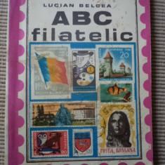ABC filatelic Lucian Belcea carte filatelie timbre hobby foto ilustrata