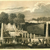 Palatul si Gradinile Saint-Cloud (Franta) - Tipogravura - Meyers Universum 1833-1861 - Pictor strain