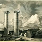 Ruine in Sardis (fostul Imperiu Persan) - Turcia - Tipogravura - Meyers Universum 1833-1861 - Pictor strain