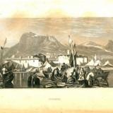 Canalul Corinth (Grecia) - Tipogravura - Meyers Universum 1833-1861 - Pictor strain
