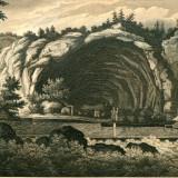 Pestera Veteranilor din Syrmia (Serbia - Croatia) - Tipogravura - Meyers Universum 1833-1861 - Pictor strain