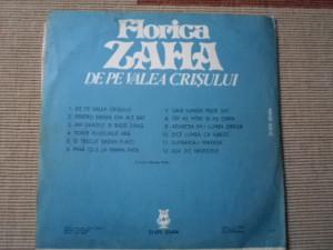 florica zaha de pe valea crisului disc vinyl lp muzica populara folclor EPE 2404