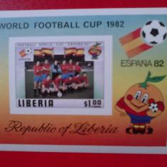 Liberia colita nedantelata MNH 1982 - Timbre straine