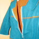 IEFTIN ȘI DE CALITATE! Jacheta de toamna fetite 2 ani, Culoare: Albastru, Albastru