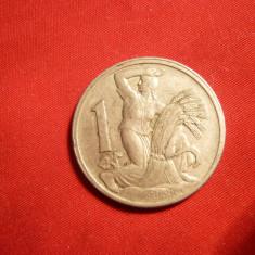 1 KOR 1923, Cehoslovacia, Cu-Ni, cal.F.Buna, d=2, 5cm.