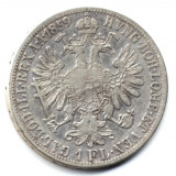 1 FLORIN 1859 A VF++ ARGINT AUSTRIA